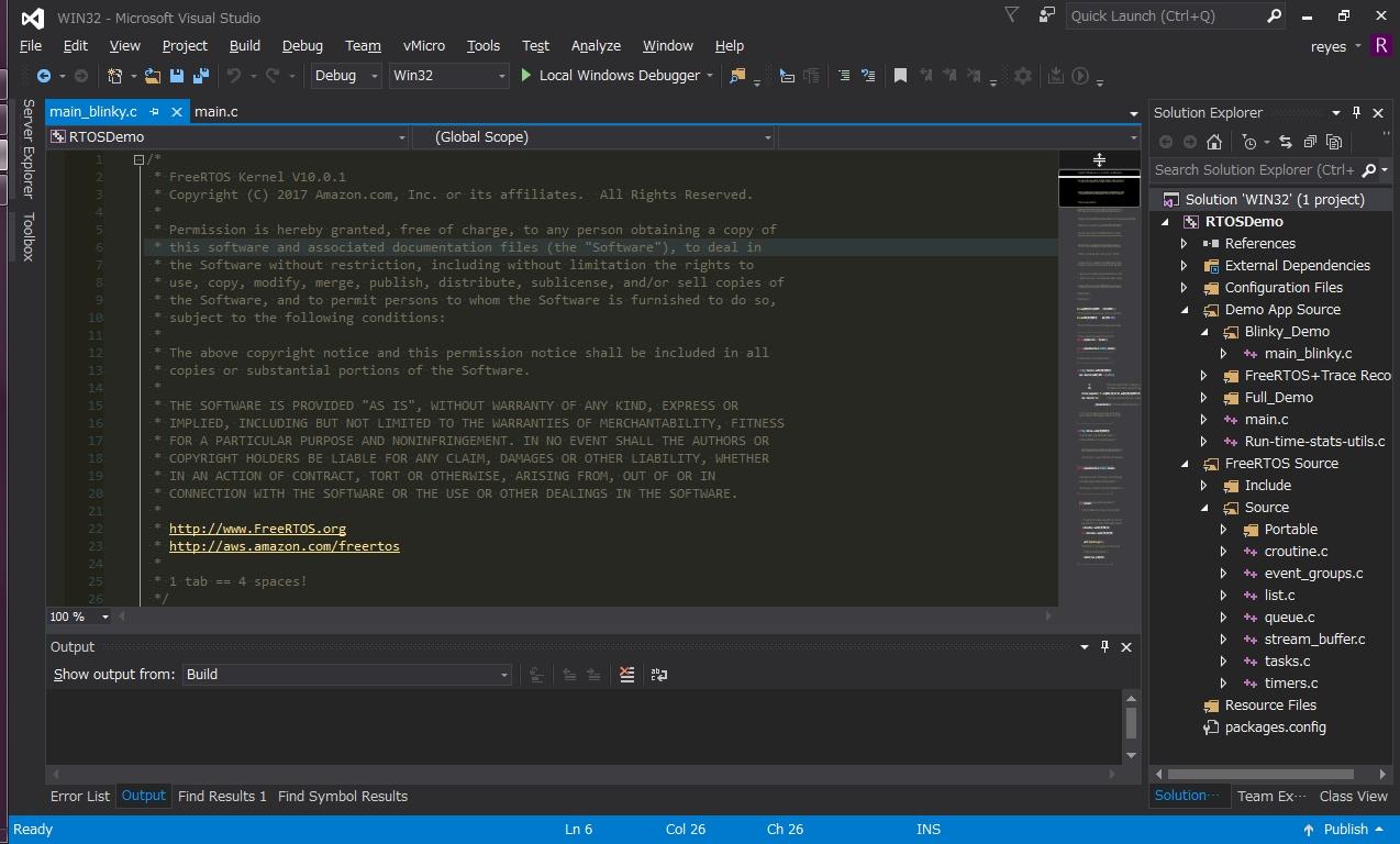 Simple FreeRTOS Projects on Visual Studio   SHIROKU NET