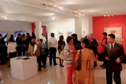 Gallery during opening of the exhibition