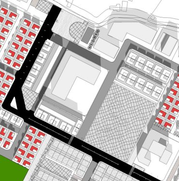 Prefinal: Central park was cut off and duplex unit was added so as to distribute the open space to other spaces