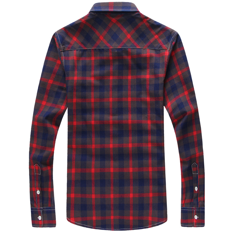 Plaid Shirts Men Checkered Shirt Brand New Fashion Button Down Long Sleeve Casual Shirts Plus Size 5XL Size Details Plaid Shirts Men How to Measure To choose the correct size for you measure your body as follows How to Measure Shirts Product specifications Brand NameHANQIU GenderMen Item TypeShirts CollarTurn-down Collar Closure TypeSingle Breasted Sleeve StyleRegular Shirts TypeCasual Shirts Sleeve Length(cm)Full MaterialPolyester,Cotton Pattern TypePlaid Model Numbermen shirt Fabric TypeBroadcloth StyleCasual GenderMen,Male,Teen,Man SizeChina size M,L,XL,XXL,XXXL,4XL,5XL SeasonSpring,Autumn Key Wordmen shirt,camisa masculina,mens shirts,mens dress shirts Key Word1dress shirt,camisa masculina,camisa social masculina Wholesale Yes, Discount How to Purchase It is available in Lalbug.com only! To buy this product, click on the Add to Cart button. Purchase Protection Shop with full confidence! Lalbug guarantees that it will ensure you to deliver your products in time as described. You will get 100% refund if product isn't received in guaranteed shipping and delivery time or see that it is not as described. Return Policy If the product you receive is not as described or low quality, the seller promises that you may return it before order completion (when you click 'Confirm Order Received' or exceed confirmation time frame), receive a full refund, and that the return shipping fee will be paid by the seller. Details of the shipping method and fee payment should be agreed with the seller in advance. Or, you can choose to keep the product and agree the refund amount directly with the seller. We are committed to provide best customer services and quality products.