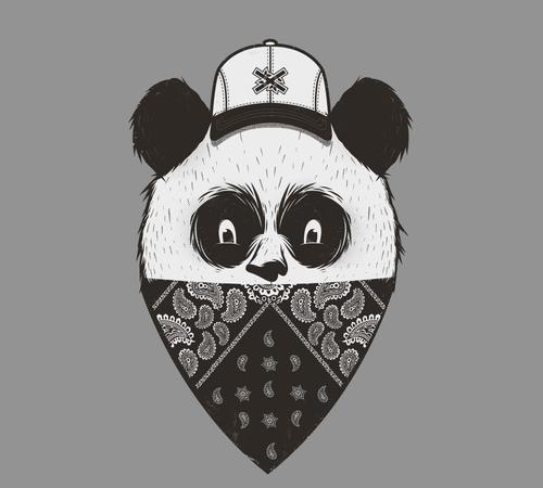 Panda Bandana Shirtigo