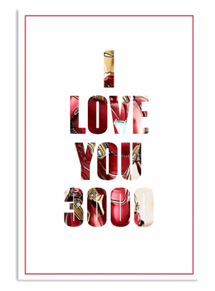 iron man i love you 3000 poster