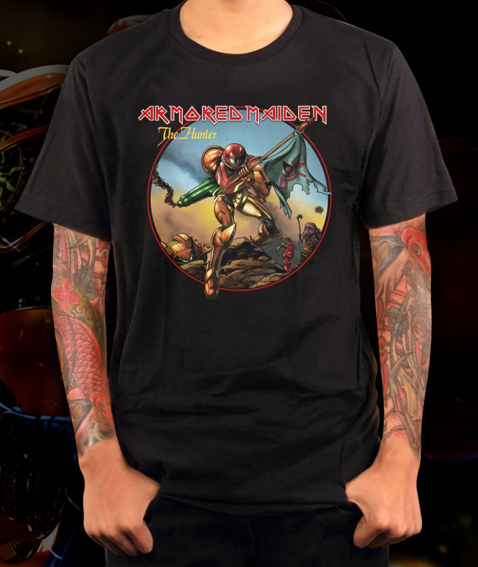 Metroid Armored Maiden Samus T Shirt Shirts For Gamers