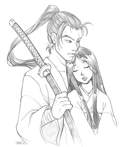 Katsu y Hikari, por Rita Muñoz