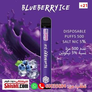 500 puffs blue berry pods