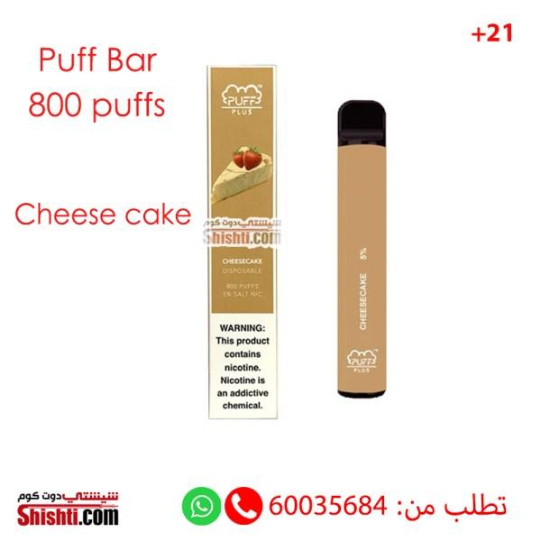 puff bar plus 800 puffs cheese cake