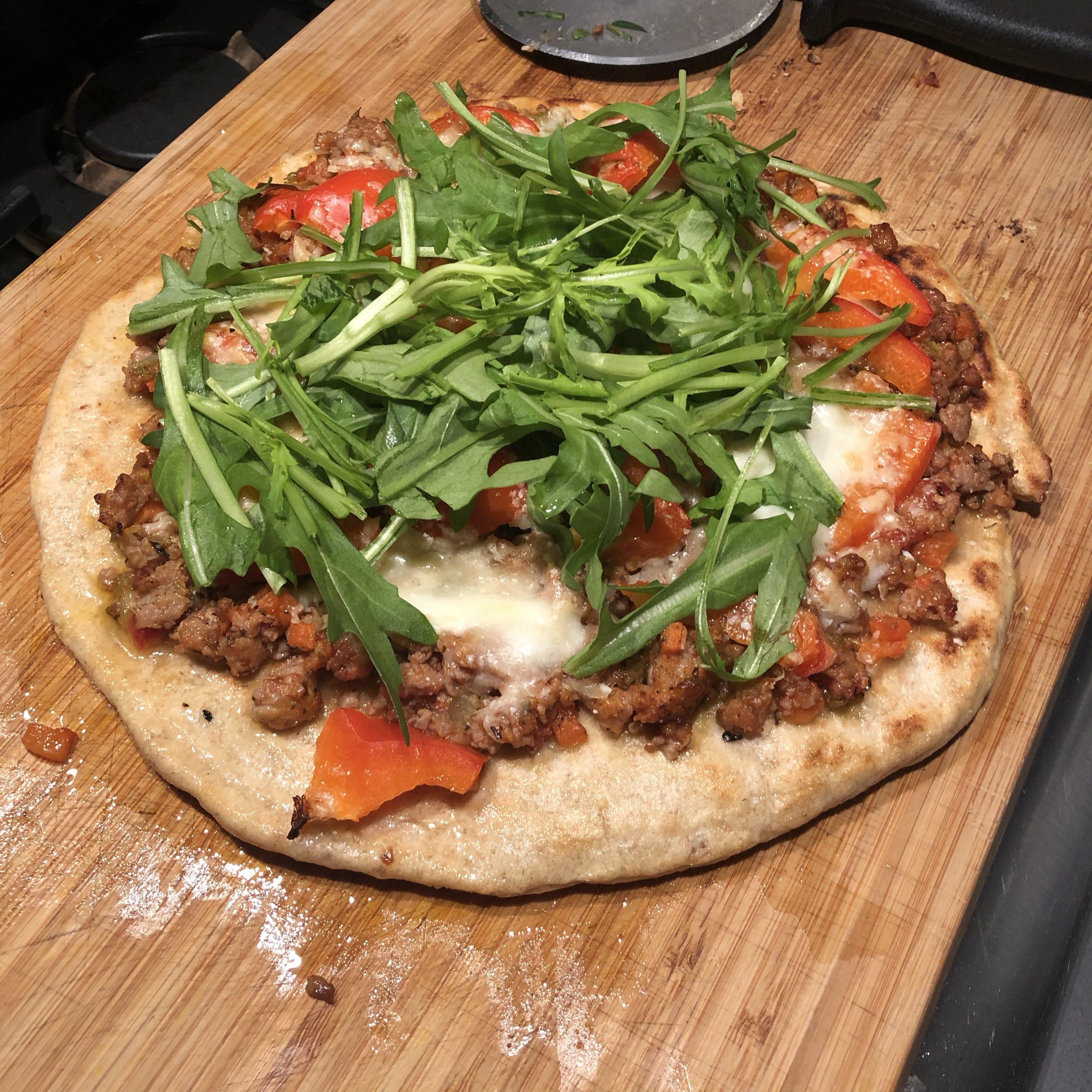 Corona lockdown dag 7: Zuurdesem pizza's