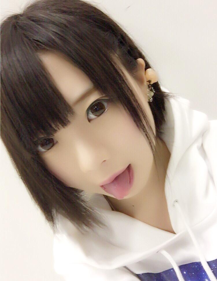 杏ちゃむの舌出し (3)
