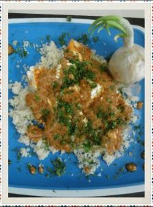 Couscous in Cottage Cheese Gravy