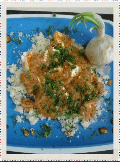INDIAN STYLE COUSCOUS IN COTTAGE CHEESE GRAVY