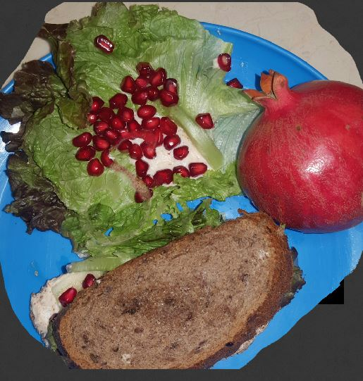 Multigrain Lettuce Pomegranate Sandwich with Tzatzki dressing