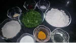 ingredients for gujju thepla