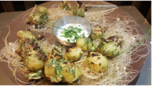 GREEN GARLIC TANDOORI ALOO