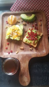 making of Avocado toast