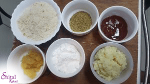 ingredients for potato cheese balls