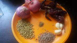 Ingredients for Onion chutney