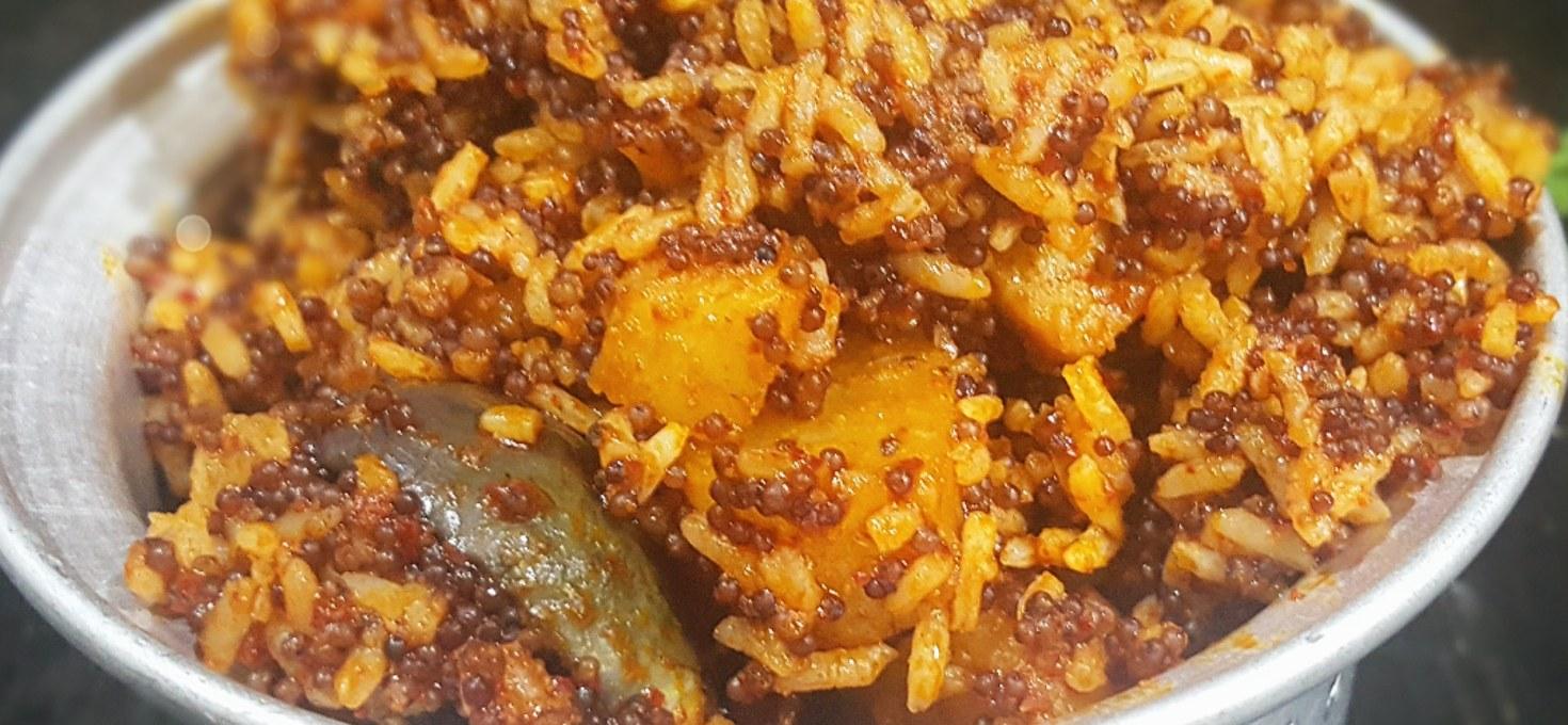 Ragi Pulav !! Rustic Rice Dish