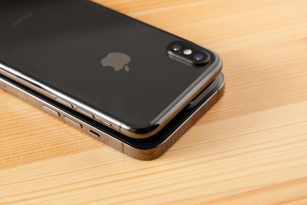 iPhoneの側面のエッジの違い