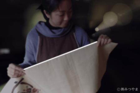 リサイクル帯検品・脇糸のほつれ