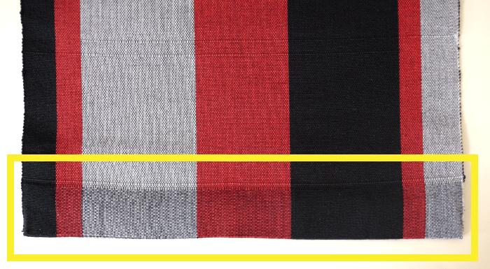 単帯・帯端の袋状部分