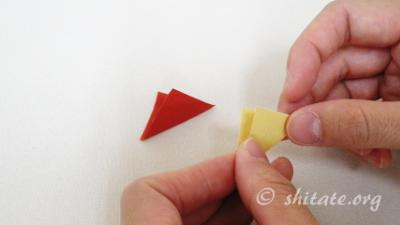 二重丸つまみ 花 作り方 1