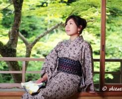 大人っぽい浴衣でポートレート・そうだ京都へ行こうっぽい写真