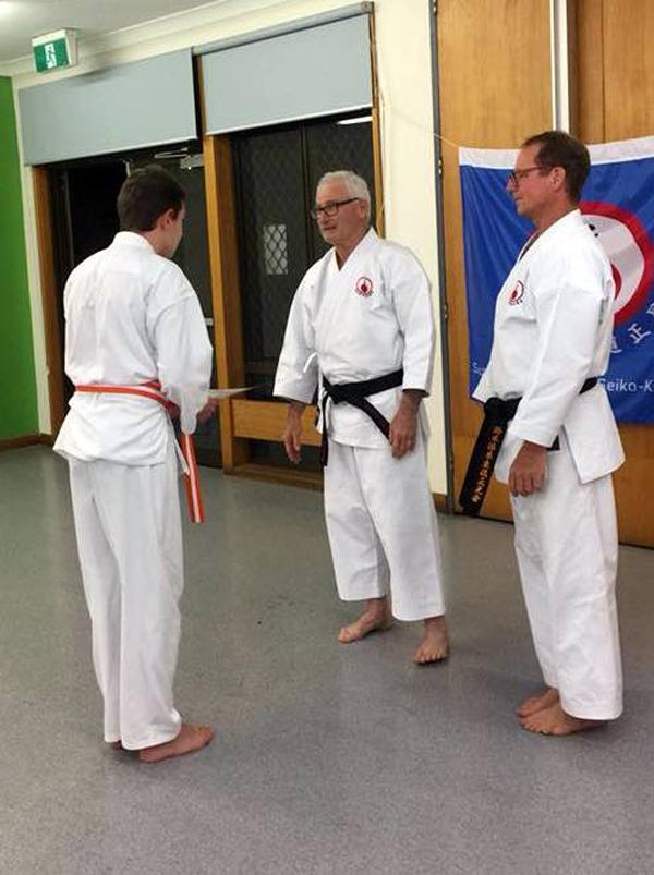 Teens karate grading 4.10.17