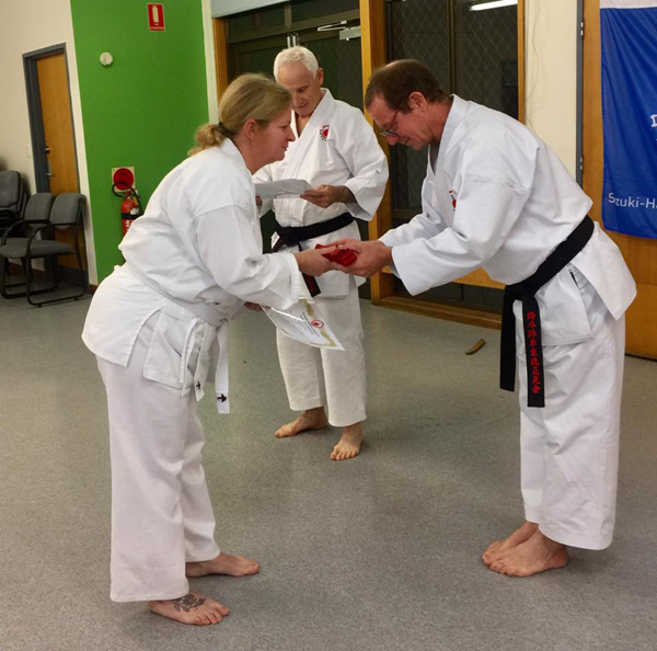 Adults karate training