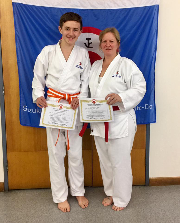 Shito Ryu Karate for mother and son