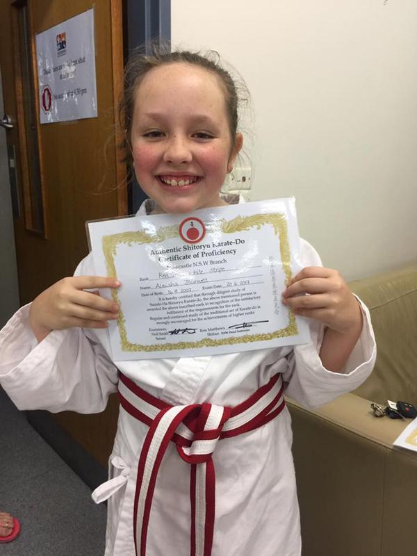 Proud karate kid