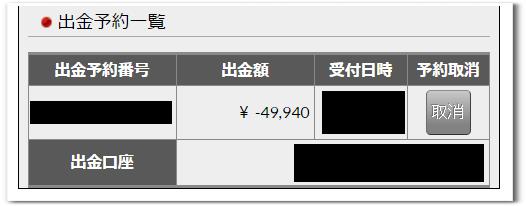 外為ジャパン 取引後 出金手順4