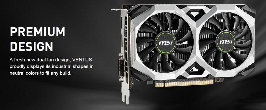 Msi GTX 1650 Ventus XS 4G OCV1 4GB GDDR5 Graphics Card - GTX-1650-VENTUS-XS-4G-OCV1