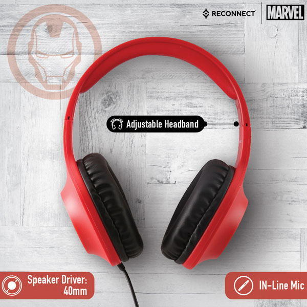reconnect 101 marvel iron man wired headphone 2