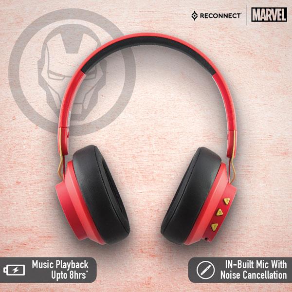 reconnect 501 marvel iron man wireless headphone 5
