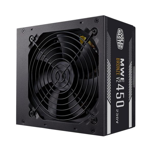 Cooler Master MWE 450 Bronze V2 450w, 80 Plus Bronze Certified, Non-Modular Power Supply
