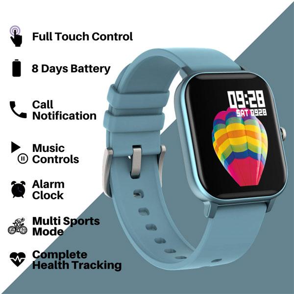 fire boltt full touch smart watch blue 2