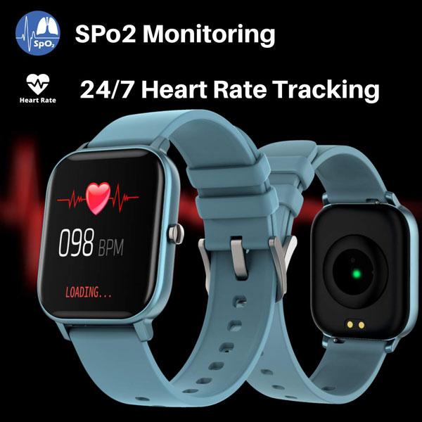 fire boltt full touch smart watch blue 3