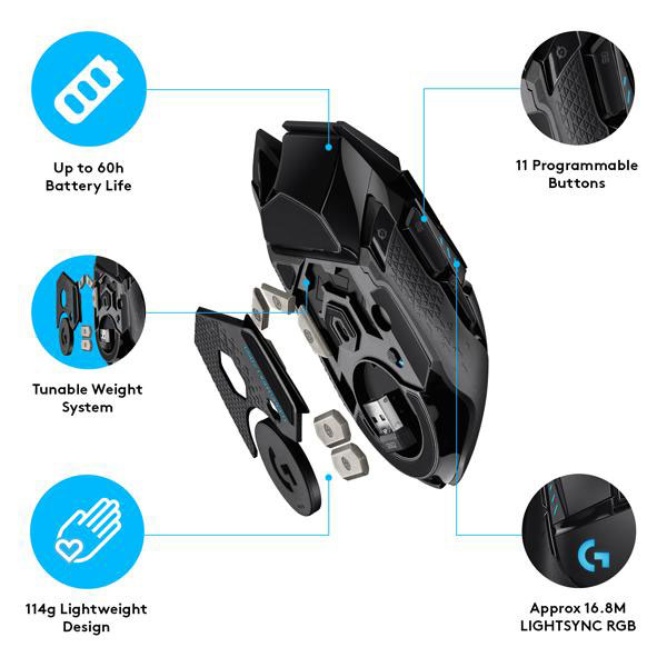 logitech g502 wireless gaming mouse 5