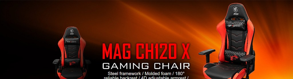 msi mag ch120 gaming chair black red 6
