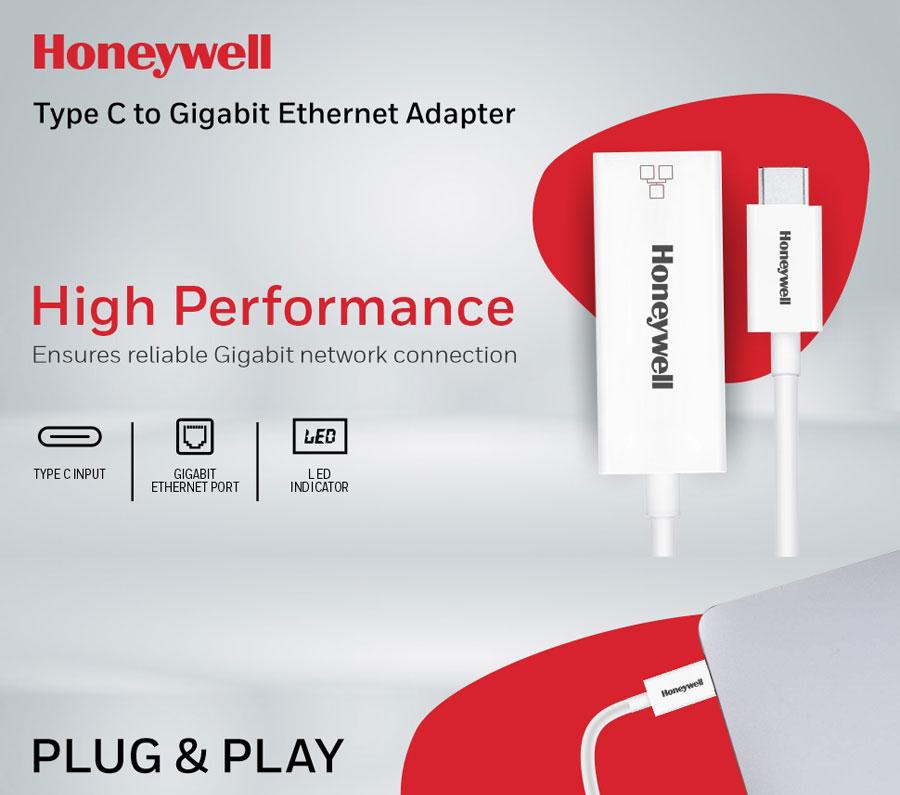 Honeywell Type C to Gigabit Ethernet Adapter (White)