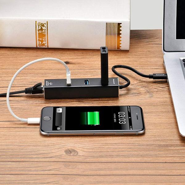 Honeywell Platinum Type C To USB 3.0 Ethernet Adapter (Black)