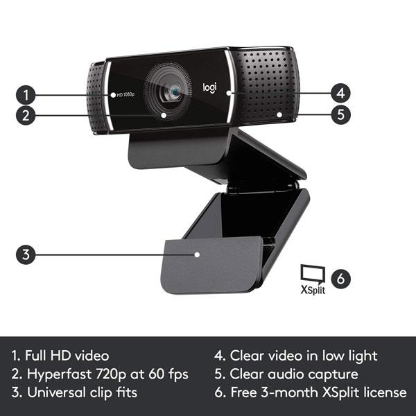 logitech c922 pro stream webcam 2