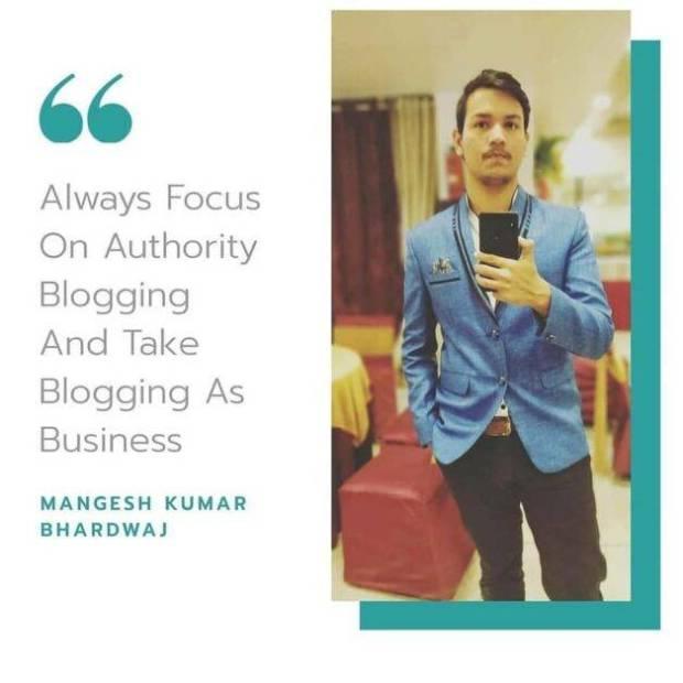 Mangesh Kumar Bhardwaj - Founder of BloggingQnA