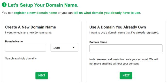 Choose your Domain Name- GreenGeeks