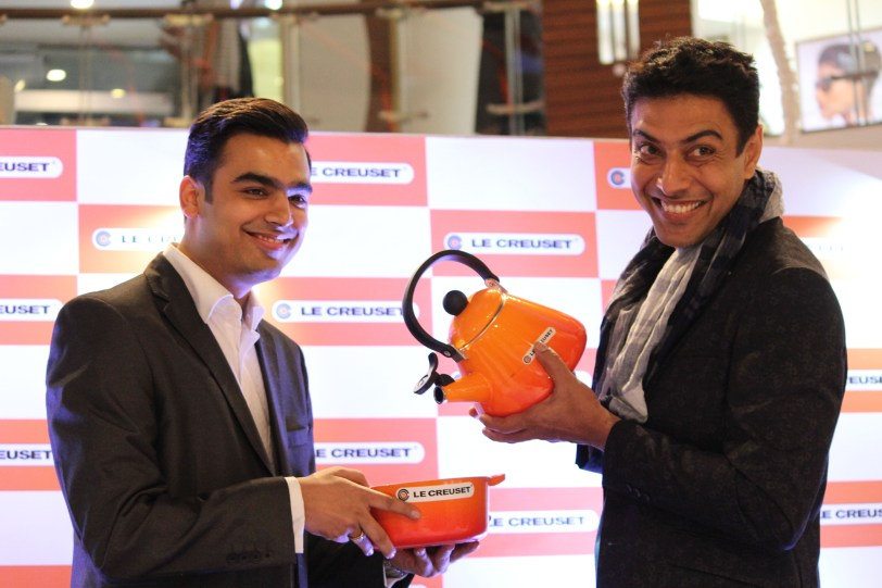 Ankur Damani India and Saarc Country head at le Creuset with Chef Ranveer Brar