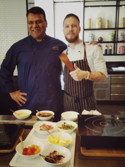 Chef Neeraj and Chef Sander at the MasterClass table