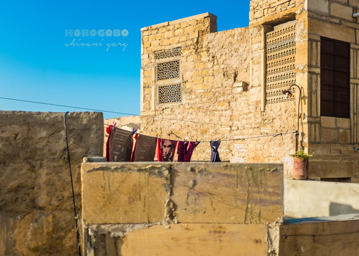 clothes drying inside jaisalmer fort rajasthan