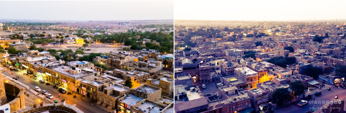 rooftop views of jaisalmer city