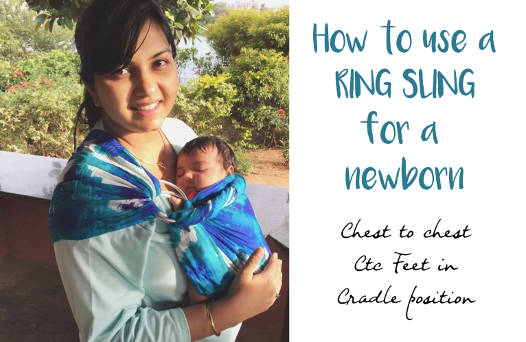 ring sling tutorial newborn