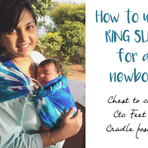 Ring Sling Tutorial – How to use a ring sling with a newborn